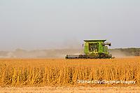 63801-08001 Soybean Harvest John Deere combine Marion Co. IL