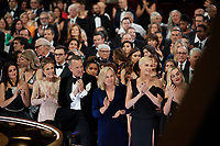 Penelope Cruz, Rita Wilson, Oscar® nominee, Tom Hanks, Gerda Jacoba Aletta Maritz, and Oscar® nominees, Charlize Theron and Margot Robbie during the live ABC Telecast of The 92nd Oscars® at the Dolby® Theatre in Hollywood, CA on Sunday, February 9, 2020.<br /> *Editorial Use Only*<br /> CAP/AMPAS<br /> Supplied by Capital Pictures
