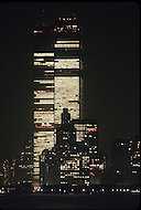 New York City, New york, 03 July 1986: Liberty Weekend was the celebration of the restoration and centenary of the Statue of Liberty. Downtown New York is visible with the World Trade Center prominent in the skyline.