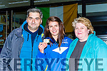 World Rowing champion Monika Dukarska Killorglin shows her parents Katarzyna and Jacek her gold medal at her homecoming in Killorglin on Tuesday