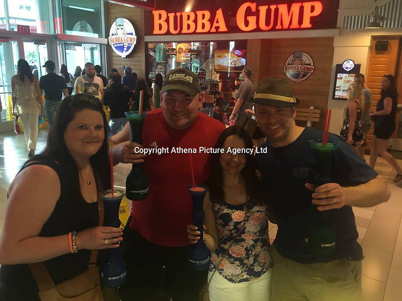 "Pictured: Samantha Evans (L) with friends in Las Vegas, image found on open social media account<br /> Re: A woman from Cardiff has told how she was standing next one of the victims of the Las Vegas massacre.<br /> Samantha Evans, 36, was at the music festival with her mother when the automatic gunfire started.<br /> Both women suffered minor injuries escaping from the hail of bullets fired from the Mandalay Bay hotel. <br /> Mrs Evans, who works for Virgin Holidays, said: ""Mum and I were at the festival just to the side of where someone got shot.<br /> ""We managed to get away with the help of some amazing Americans."""