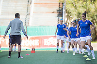 Seattle, WA - Sunday, May 1, 2016: FC Kansas City midfielder Yael Averbuch (10) during warm-ups at Memorial Stadium.