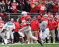 "November 22, 2008. Ohio State running back Chris ""Beanie"" Wells heads to the endzone on a 59-yard touchdown run.The Ohio State Buckeyes defeated the Michigan Wolverines 42-7 on November 22, 2008 at Ohio Stadium, Columbus, Ohio."