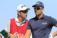 Henrik Stenson (SWE) and Gareth Lord at the 17th tee during Thursday's Round 1 of the 118th U.S. Open Championship 2018, held at Shinnecock Hills Club, Southampton, New Jersey, USA. 14th June 2018.<br /> Picture: Eoin Clarke | Golffile<br /> <br /> <br /> All photos usage must carry mandatory copyright credit (&copy; Golffile | Eoin Clarke)