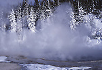 Solitary Geyser in January
