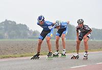 INLINESKATEN: HALLUM: 07-09-2013, KPN Dutch Open Inline 100km, ©foto Martin de Jong