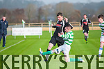 Listowel Celtic V Knockainey AFC : Listowel Celtic's Martin Loughnane and Knockainey's Jonathan Cosgrave in action in their last 64 clash in the Fai Junior Cup at Pat Kennedy Park, Listowel on Sunday last.