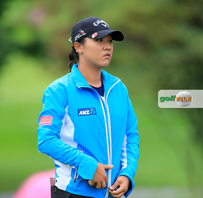 Lydia Ko (NZL) at the 5th tee during Saturday's Round 3 of The 2016 Evian Championship held at Evian Resort Golf Club, Evian-les-Bains, France. 17th September 2016.<br /> Picture: Eoin Clarke | Golffile<br /> <br /> <br /> All photos usage must carry mandatory copyright credit (&copy; Golffile | Eoin Clarke)