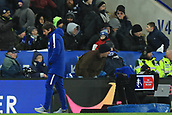 18th March 2018, King Power Stadium, Leicester, England; FA Cup football, quarter final, Leicester City versus Chelsea; A dejected Chelsea Manager Antonio Conte walks away from the VAR station