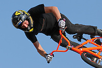 16 August, 2012:  Steven McCann competes in the  BMX Vert Final: Round 1 at the Pantech Beach Championships in Ocean City, MD