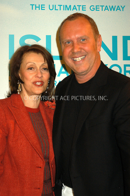 WWW.ACEPIXS.COM . . . . . ....NEW YORK, APRIL 15, 2005....Michael Kors and Evelyn Lauder at the launch of the Michael Kors fragrance 'Island' at Saks Fifth Avenue.....Please byline: KRISTIN CALLAHAN - ACE PICTURES.. . . . . . ..Ace Pictures, Inc:  ..Craig Ashby (212) 243-8787..e-mail: picturedesk@acepixs.com..web: http://www.acepixs.com