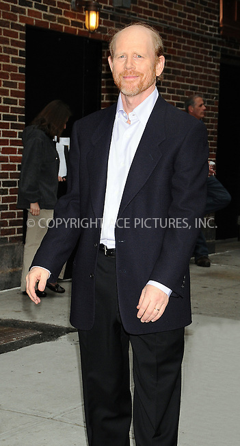 WWW.ACEPIXS.COM . . . . . ....May 14 2009, New York City....Director Ron Howard made an appearance at the 'Late Show with David Letterman' at the Ed Sullivan Theatre on May 14 2009 in New York City....Please byline: AJ SOKALNER - ACEPIXS.COM.. . . . . . ..Ace Pictures, Inc:  ..tel: (212) 243 8787 or (646) 769 0430..e-mail: info@acepixs.com..web: http://www.acepixs.com