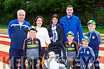 Shane Collins, Declan Culnane, Ryan and Daniel Collins, Byron Culnane back row: Ger Brosnan, Maura Culnane, Eileen and Lar Collins at the Miriam Joy family funday inAn Riocht Castleisland on Sunday