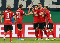 Per Skjelbred, Marvin Plattenhardt, Mathew Leckie, Vedad Ibisevic 2:0, Vladimir Darida <br /> / Sport / Fußball Fussball / DFB Pokal 1. Runde 3.Liga Bundesliga / Saison 2017/2018 / 14.08.2017 / FC Hansa Rostock FCH vs. Hertha BSC Berlin / *** Local Caption *** © pixathlon +++ tel. +49 - (040) - 22 63 02 60 - mail: info@pixathlon.de