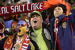 22 November 2009: Salt Lake fans celebrate after the game. Real Salt Lake defeated the Los Angeles Galaxy 5-4 on penalty kicks after the teams played to a 1-1 overtime tie at Qwest Field in Seattle, Washington in MLS Cup 2009, Major League Soccer's championship game.