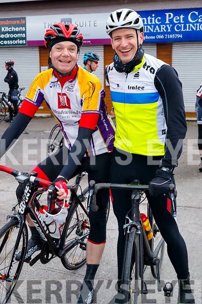 Richie O'Sullivan, Chaingang and James Slade, Tralee BC pictured at the Lacey Cup Cycle on Sunday morning last.