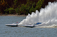 "Cal Phipps, GNH-41, Mark Weber, GNH-83 ""Blue Mule II  (Grand National Hydroplane(s)"