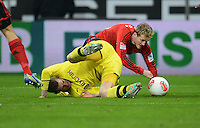 FUSSBALL   1. BUNDESLIGA   SAISON 2012/2013    20. SPIELTAG Bayer 04 Leverkusen - Borussia Dortmund                  03.02.2013 Lukasz Piszczek (li, Borussia Dortmund) gegen Andre Schuerrle (re, Bayer 04 Leverkusen)