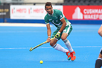 Ammad Shakeel Butt of Pakistan during the Hockey World League Quarter-Final match between Argentina and Pakistan at the Olympic Park, London, England on 22 June 2017. Photo by Steve McCarthy.