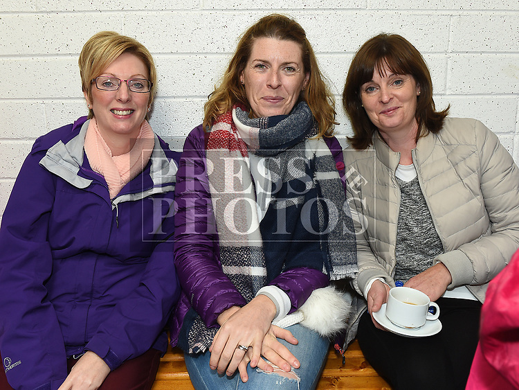 Sarah Smith, Orla Cooney and Yvonne Brion at the official opening of the new dressing rooms at St Mary's GFC Donore.  Photo:Colin Bell/pressphotos.ie