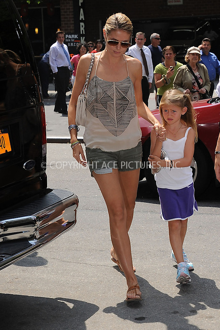 WWW.ACEPIXS.COM . . . . . .June 21, 2011...New York City....Heidi Klum and Leni walking in Tribeca on June 21, 2011 in New York City. Please byline: KRISTIN CALLAHAN - ACEPIXS.COM.. . . . . . ..Ace Pictures, Inc: ..tel: (212) 243 8787 or (646) 769 0430..e-mail: info@acepixs.com..web: http://www.acepixs.com .