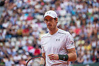 Paris, France, 22 June, 2016, Tennis, Roland Garros, Andy Murray (GBR) in his match against Ivo Karlovic (CRO)<br /> Photo: Henk Koster/tennisimages.com