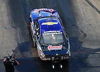 Jun 17, 2016; Bristol, TN, USA; NHRA pro stock driver Jason Line during qualifying for the Thunder Valley Nationals at Bristol Dragway. Mandatory Credit: Mark J. Rebilas-USA TODAY Sports