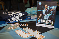 Stephen McGinn of Wycombe Wanderers programme & shirt during the Sky Bet League 2 match between Wycombe Wanderers and Bristol Rovers at Adams Park, High Wycombe, England on 27 February 2016. Photo by Andy Rowland.
