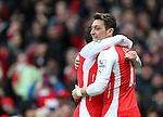 Arsenal's Mesut Ozil celebrates scoring his sides second goal<br /> <br /> Barclays Premier League - Arsenal vs Aston Villa - Emirates Stadium  - England - 1st February 2015 - Picture David Klein/Sportimage