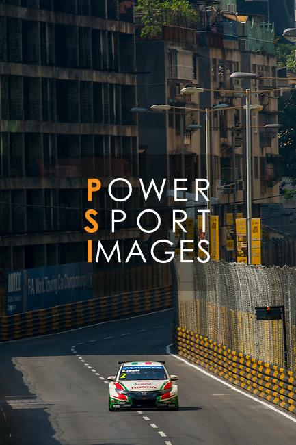 Gabriele Tarquini races the FIA WTCC during the 61st Macau Grand Prix on November 16, 2014 at Macau street circuit in Macau, China. Photo by Aitor Alcalde / Power Sport Images