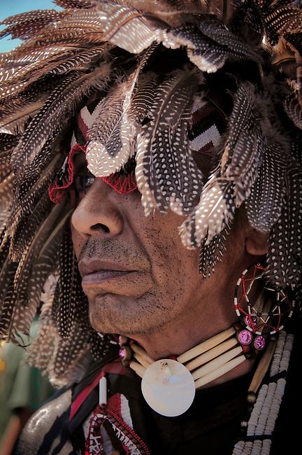 Pow wow dancer at Julymish Pow Wow, Idaho.