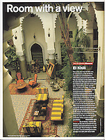 Cond&eacute; Nast Traveler (U.K. edition), December 2004, &quot;Room with a View&quot; feature.<br />