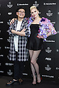 (L to R) Fashion designer Keita Maruyama and American singer Gwen Stefani attend a photo call at the Mercedes Benz Fashion Week Tokyo in Shibuya Hikarie building on March 14, 2016, Tokyo, Japan. As well as attending the fashion week as part of a MasterCard tie-up, Stefani will hold her first concert in Japan in 8 years to promote her third solo album, This Is What the Truth Feels Like. (Photo by Rodrigo Reyes Marin/AFLO)