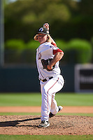 Glendale Desert Dogs pitcher Jake Johansen (44), of the Washington Nationals organization, during a game against the Mesa Solar Sox on October 20, 2016 at Camelback Ranch in Glendale, Arizona.  Glendale defeated Mesa 3-2.  (Mike Janes/Four Seam Images)
