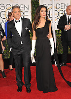 George Clooney &amp; Amal Alamuddin Clooney at the 72nd Annual Golden Globe Awards at the Beverly Hilton Hotel, Beverly Hills.<br /> January 11, 2015  Beverly Hills, CA<br /> Picture: Paul Smith / Featureflash