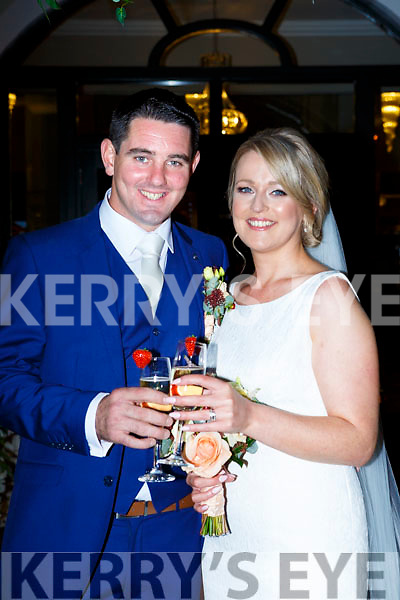 Trish Buckley, Gortdromakerry, Muckross, Killarney daughter of Josie and the late Timmy, and Johnny O'Donovan, Rusheenmore, Glenflesk, son of Donie and Eileen, who were married in St Marys Cathdral on Friday, Fr Nial Howard officiated at the ceremony, best man was Matthew O'Donovan, groomsmen were Mikey O'Donovan, Niall O'Donoghue, Seamus Mahony, and Jason O'Shea, bridesmaids were Mags Buckley, Caroline Mitchell, Deirdre Hannon, Karen Joy and Brid Fitzgerald, flowergirl was Keelin O'Donoghue, page boy was Luke Hannon, the reception was held in the Killarney Oaks Hotel and the couple will reside in Perth Australia