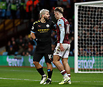 Jack Grealish of Aston Villa and Sergio Aguero of Manchester City clash during the Premier League match at Villa Park, Birmingham. Picture date: 12th January 2020. Picture credit should read: Darren Staples/Sportimage