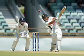 November 5th 2017, WACA Ground, Perth Australia; International cricket tour, Western Australia versus England, day 2; Josh Philippe plays a lofted cover drive off Mason Crane to the boundary for four runs during his innings