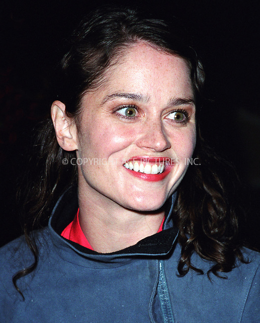 """Actress ROBIN TUNNEY arrives at New York's hot spot The Park for the """"Human Nature"""" premiere afterparty. April 9, 2002. Please byline: Alecsey Boldeskul/NY Photo Press.   ..*PAY-PER-USE*      ....NY Photo Press:  ..phone (646) 267-6913;   ..e-mail: info@nyphotopress.com"""