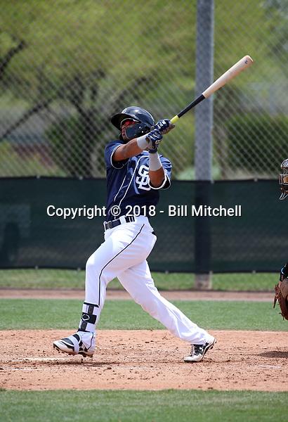 Luis Almanzar - San Diego Padres 2018 extended spring training (Bill Mitchell)