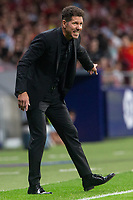 Diego Pablo Cholo Simeone of Atletico Madrid during the match between Atletico Madrid v SD Huesca of LaLiga, 2018-2019 season, date 6. Wanda Metropolitano Stadium. Madrid, Spain - 25 September 2018. Mandatory credit: Ana Marcos / PRESSINPHOTO