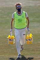 Calum Haggett on drinks duty for Kent during Kent CCC vs Sussex CCC, Bob Willis Trophy Cricket at The Spitfire Ground on 8th August 2020