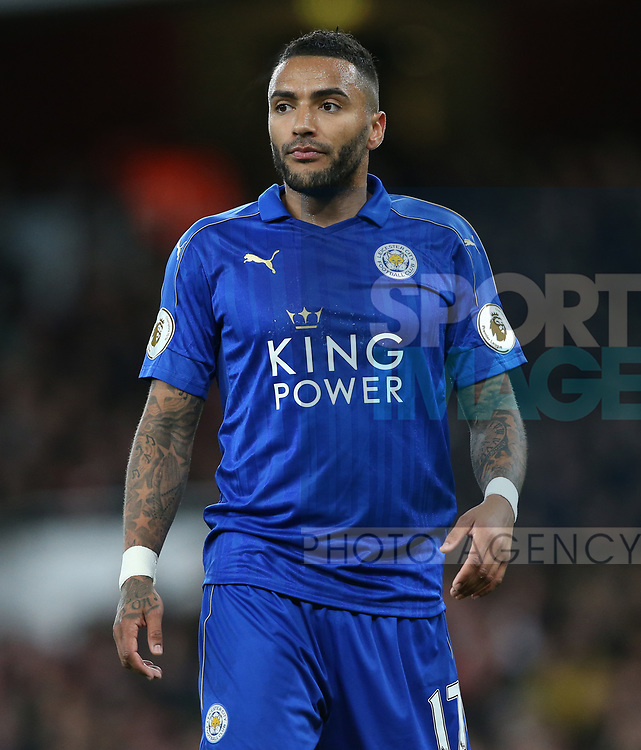 Leicester's Danny Simpson in action during the Premier League match at the Emirates Stadium, London. Picture date: April 26th, 2017. Pic credit should read: David Klein/Sportimage