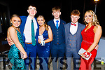 Ava O'Mahoney, Stephen Bowler, Caoimhe Edwards, Ryan McElligott and Fergal O'Brien attending the Mercy Mounthawk Debs in the Ballyroe Heights Hotel on Friday
