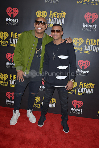 MIAMI, FL - NOVEMBER 05: Alexander Delgado and Randy Malcom Martinez of Gente de Zona attends iHeartRadio Fiesta Latina at American Airlines Arena on November 5, 2016 in Miami, Florida.Credit: MPI10 / MediaPunch