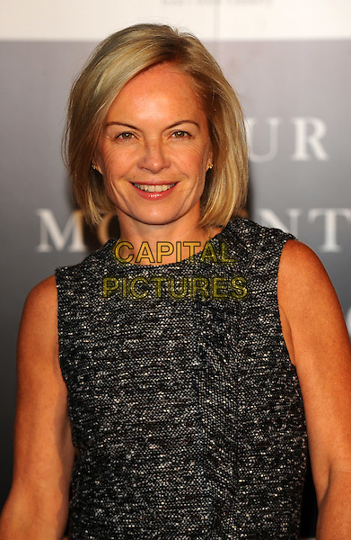 MARIELLA FROSTRUP .Attending Your Moment Is Waiting - launch party at Saatchi Gallery, London, England. September 21st 2010 .portrait headshot grey gray wool tweed sleeveless smiling .CAP/CJ.©Chris Joseph/Capital Pictures.