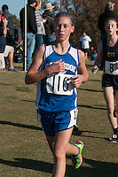 Oak Ridge freshman Taylor Seyer runs to a 38th place finish in the Class 1 Girls 5k race at the 2015 MSHSAA State Cross Country Championships.