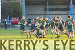 John O'Sullivan Killorglin Powers through the Fermoy defence  at killorglin rfc vs fermoy rfc Match at O'Dowd Park Tralee on Sunday