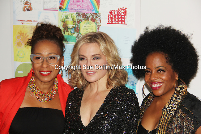 Tamara Tunie - Amy Carlson - Rhonda Ross - Hearts of Gold annual All That Glitters Gala - 24 years of support to New York City's homeless mothers and their cildren - (VIP Reception - Silent Auction) was held on November 7, 2018 at Noir et Blanc and the 40/40 Club in New York City, New York.  (Photo by Sue Coflin/Max Photo)