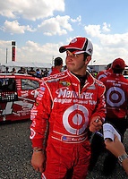 Oct 4, 2008; Talladega, AL, USA; NASCAR Sprint Cup Series driver Reed Sorenson during qualifying for the Amp Energy 500 at the Talladega Superspeedway. Mandatory Credit: Mark J. Rebilas-